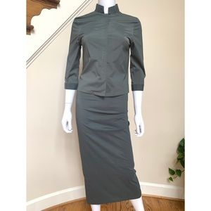 Dollhouse skirt and top set in khaki green S